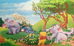 winnie pooh eeyore elephant heffalump summer flowers
