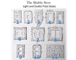 Shabby Chic Light Switch Covers by Light Switch Plate 24 Colors Shabby Chic Light Switch