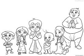coloring images az coloring pages chota bheem outline pictures