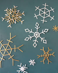 popsicle stick snowflakes christmas u0026 easter pinterest