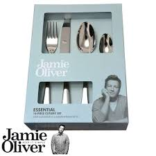 Jamie Oliver Kitchen Knives Jamie Oliver Essential Cutlery Set 16 Pcs 18 10 Amazon Co Uk