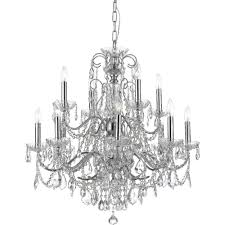 Crystorama Chandeliers Sale Crystorama Lighting 3228 Ch Cl Mwp Imperial Polished Chrome