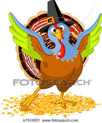 clipart of happy thanksgiving turkey k7514031 search clip