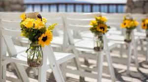 sunflower wedding decorations simple and wedding chair decoration with a beautiful sunflower