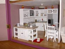 Dollhouse Decorating by Kitchen