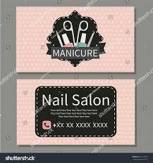 nail salon cute business card for manicure salon vector design