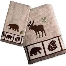 Pinecone Bathroom Accessories by Pine Cone Lodge Bath Towel Set Cabin Place