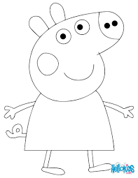 peppa pigs family coloring printable pages