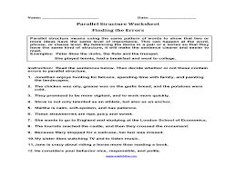 parallel structure worksheet guillermotull com