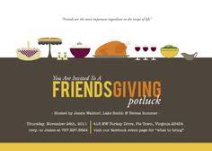 thanksgiving friendsgiving potluck invitation printable