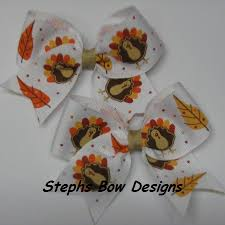 thanksgiving hair bows cheer bows