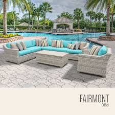 Turquoise Patio Furniture by Tk Classics Fairmont 8 Piece Outdoor Wicker Patio Furniture Set 08d