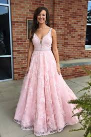 pink lace v neck sequins long handmade prom dress for teens diy