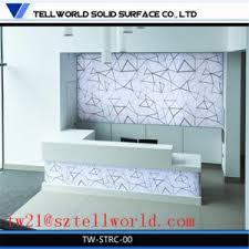 Gloss White Reception Desk China Led Gloss White Hotel Reception Desk High Gloss Modern