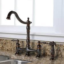 premier kitchen faucet charelstown bridge style 2 handle parisian bronze kitchen faucet