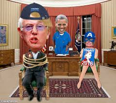 trump oval office pictures donald trump and bernie sanders hybrid president tied up in the