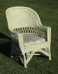 White Wicker Armchair Corner House Antiques