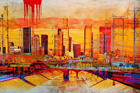 saatchi los angeles skyline sold painting by anyes galleani