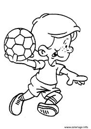 coloriage footballeur foot enfant ballon jecolorie com