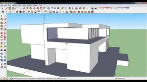 Modern Hosue by How To Make Modern House In Google Sketchup Youtube