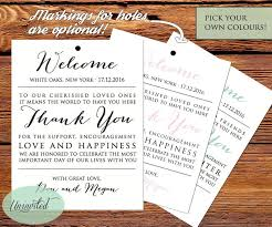 welcome wedding bags wedding tag printable wedding tags welcome bags wedding welcome