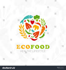 healthy lifestyle logo round emblem raw stock vector 556349575