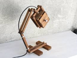 krankenstein wooden desk table working lamp gift unique style