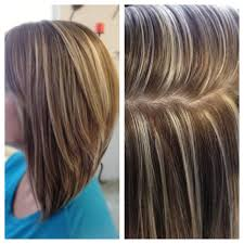 long bob hairstyles with low lights high contrast hair color highlights and lowlights platinum