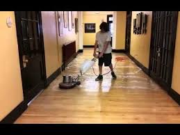 Commercial Wood Flooring Commercial Wood Floor Cleaning And Recoating Youtube