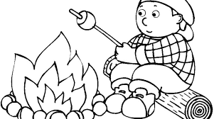 camping coloring pages gekimoe u2022 10392