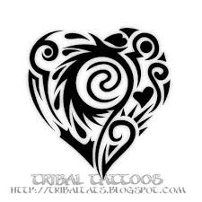 yuvy endel new 10 unique designs of tribal heart tattoos pictures