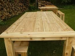 Outdoor Cedar Tables - Cedar outdoor furniture