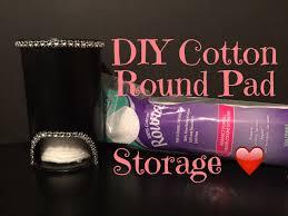 diy cotton round holder youtube