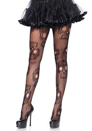 leg avenue 9982 sugar skull net tights leg avenue halloween