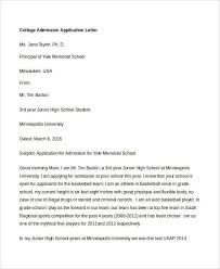 college application letter templates 9 free word pdf format