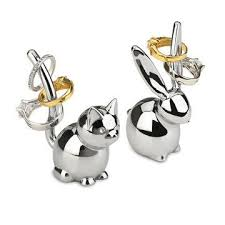 classic cat ring holder images Bunny and cat ring holder pair cat ring ring and jewerly jpg