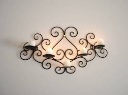 Iron Wrought Wall Decor Amusing Wrought Iron Wall Decor Candle Holders 19 For Your Best