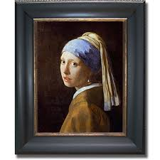 painting the girl with the pearl earring vermeer girl with a pearl earring framed canvas free shipping