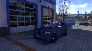 blue jeep grand cherokee srt8 grand cherokee srt8 v1 1 euro truck simulator 2 mods