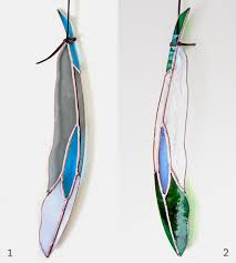Feather Home Decor Diamondeye Stained Glass Feather Home Decor U0026 Lighting Colin