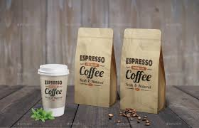 espresso coffee bag coffee bag cup mock up by grapulo graphicriver