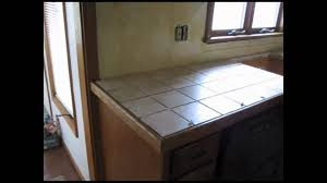 ceramic tile kitchen counter top youtube