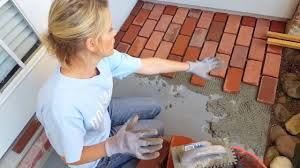 Cover Concrete With Pavers by Rip And Lisa Covering A Front Porch With Brick Pavers Youtube