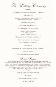what goes on a wedding program christian wedding programs ceremony ceremony