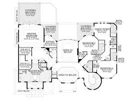 Floor Plan 2nd Floor Striking Stair Tower 32072aa Architectural Designs House Plans