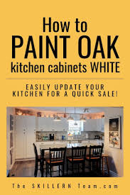 oak kitchen cabinets for sale how to paint oak kitchen cabinets white the skillern team