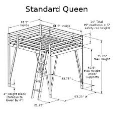 How To Make A Loft Bed Frame Build A Loft Bed Our Size Loft Bed Plans Can Be