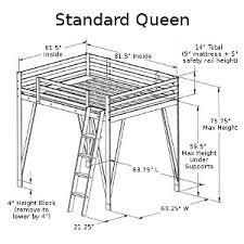 Building A Loft Bed Frame Build A Loft Bed Our Size Loft Bed Plans Can Be