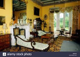 stately home interiors carriglas manor county longford eire interior stock