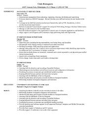 partners is service desk it service desk resume sles velvet jobs